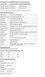 Configurations For COLIBRI Colour Line Scan Cameras