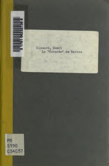 """La """"Cocarde"""" de Barrès, avec des lettres de Maurice Barrès, René ..."""