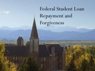 Download our Federal Student Loan Repayment and Forgiveness ...