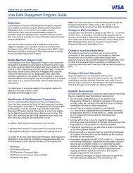 Visa Debt Repayment Program Guide - Bank of America Merchant ...