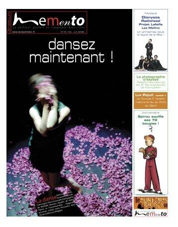 La danse - Memento, le culturel gratuit en Languedoc-Roussillon