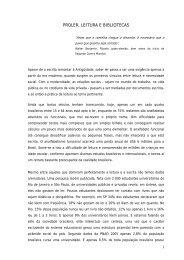 PROLER, LEITURA E BIBLIOTECAS - Associação de Leitura do Brasil