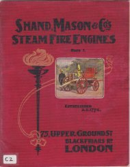 Shand Mason Steam Fire Engines - Beamish Transport Online