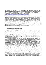 """A """"HORA DO CONTO"""" EA FORMAÇÃO DO LEITOR - Associação de ..."""