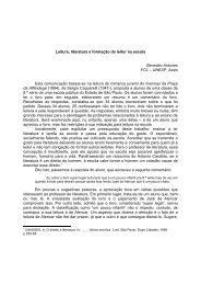 Leitura, literatura e formação do leitor na escola Benedito Antunes ...