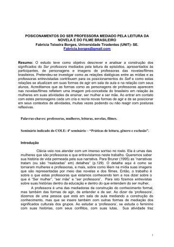 POSICONAMENTOS DO SER PROFESSORA MEDIADO PELA ...