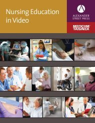 Nursing Education in Video - Alexander Street Press