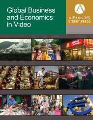 Global Business and Economics in Video - Alexander Street Press