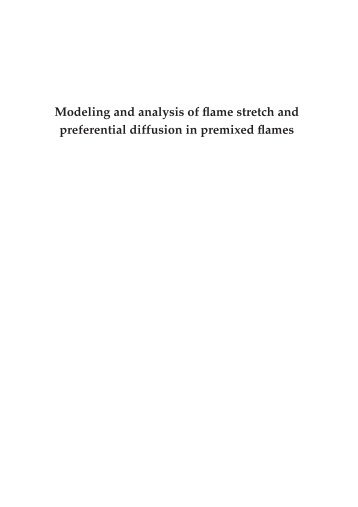 Modeling and analysis of flame stretch and preferential diffusion in ...