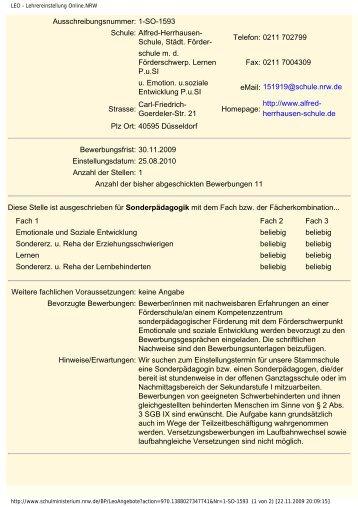 LEO - Lehrereinstellung Online.NRW - Alfred-Herrhausen-Schule