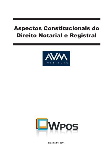 Aspectos Constitucionais do Direito Notarial e Registral.indd