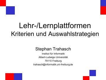 Lehr-/Lernplattformen