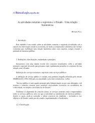 As atividades notariais e registrais e o Estado - Uma ... - eGov UFSC