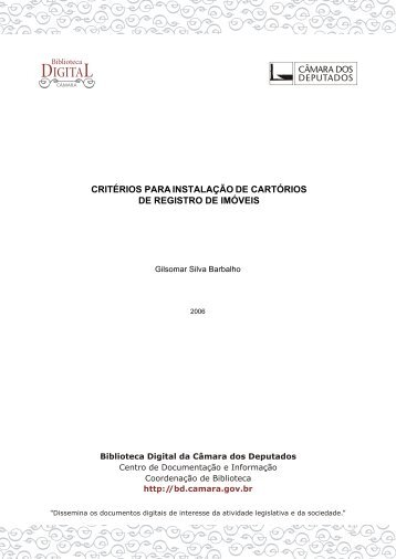 critérios para instalação de cartórios de registro de imóveis