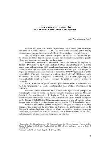 Artigo - Por João Pedro Lamana Paiva - Recivil