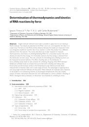 Determination of thermodynamics and kinetics of RNA reactions by ...
