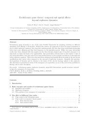 Evolutionary game theory - Universidad Carlos III de Madrid