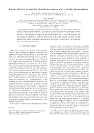 Ratchet behavior in nonlinear Klein-Gordon systems with point-like ...