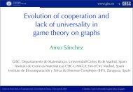 Grupo Interdisciplinar de Sistemas Complejos - Universidad Carlos ...
