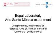 Espai Laboratori. Arts Santa Mònica experience