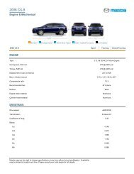 2008 CX-9 Features and Specs - Mazda USA - AllCarCentral.com