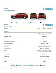 2008 CX-7 Features and Specs - Mazda USA - AllCarCentral.com