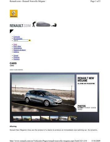 renault megane brochure 2013 pdf