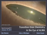 Transition Disk Chemistry in the Eye of ALMA