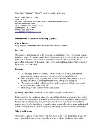 Course Tutors: Gary Bennett, INFORMS, and Patricia ... - New Page 1
