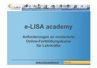 e-LISA academy - Aufbaukurs Online