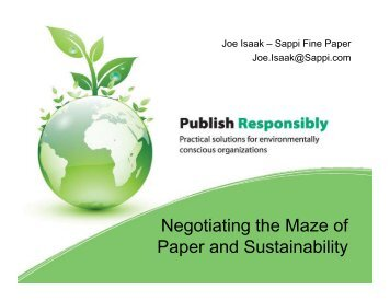 Negotiating the Maze of Paper and Sustainability - New Page 1