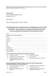 Fragebogen für Energieberater - ALTBAUNEU