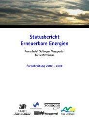 Fortschreibung Statusbericht Erneuerbare ... - Stadt Wuppertal