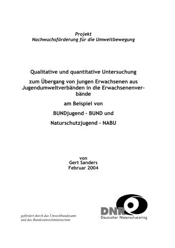 Qualitative und quantitative Untersuchung zum Übergang von ...
