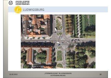 """""""sternkreuzung"""" in ludwigsburg lichtsignalanlage"""