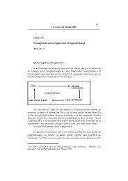 Conceptions de la régulation et apprentissage - Michel Vial