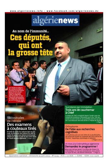 Fr-09-06-2013 - Algérie news quotidien national d'information