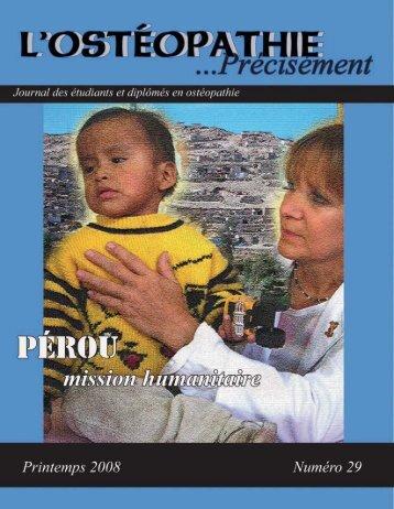 mission humanitaire 2006 - 2007 - Ostéopathie Québec