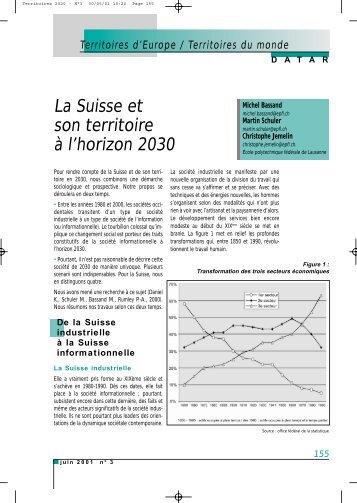La Suisse et son territoire à l'horizon 2030 - Datar