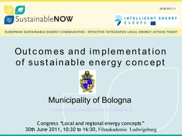 Outcomes and implementation of sustainable energy concept