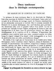 Deux tendances dans la théologie contemporaine - Nouvelle Revue ...