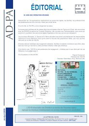 Lettre de l'AD-PA juin-juillet 2009