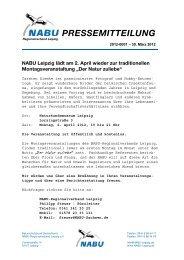 NABU Leipzig lädt am 2. April wieder zur traditionellen ...