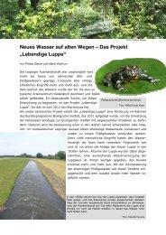 Neues Wasser auf alten Wegen - Das Projekt