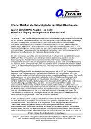 Offener Brief an die Ratsmitglieder der Stadt ... - PRO BAHN Ruhr