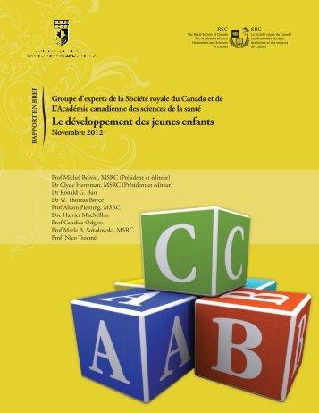 Le développement des jeunes enfants - The Royal Society of Canada