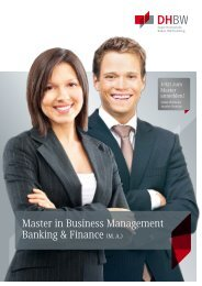 Broschüre MBM Banking & Finance - DHBW Stuttgart