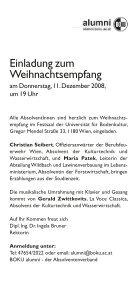 Einladung zum Weihnachtsempfang - Alumni - Boku - Seite 2