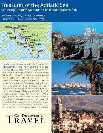 Treasures of the Adriatic Sea - Cal Alumni Association