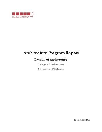 Architecture Program Report - Alumni - University of Oklahoma